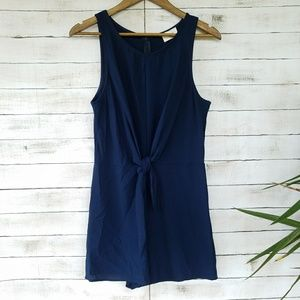 Everly | Navy Romper
